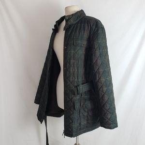 Vintage Ralph Lauren Green Plaid Quilted Jacket